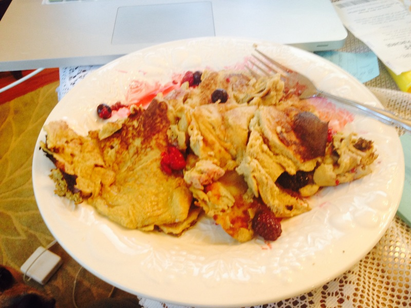 I am a terrible pancake-flipper, but they tasted great!