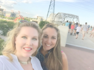 Me and Lindsey on the footbridge from downtown Nashville to LP Field.